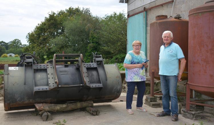 Chez Joëlle et René Urvoy, une des caméras a été installée au-dessus des citernes de carburant.