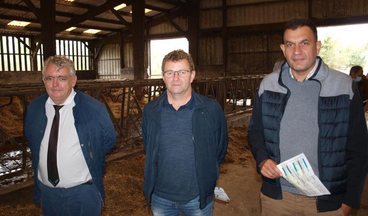 Les responsables de l'OS Normande [Albéric Valais (directeur), Philippe Orvain (président) et Samuel Journée (responsable fi