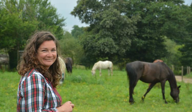 """Marie-Laure Moizard: """"Travailler dans le cheval ce n'était pas une évidence, je n'étais pas de ce milieu-là."""""""