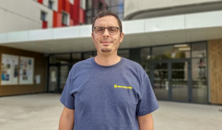 Julien Guillard, qui a lui-même souffert d'un cancer lié à l'exposition aux pesticides, préside la nouvelle antenne nantaise de PhytoVictimes. (photo Julien-Sureau)