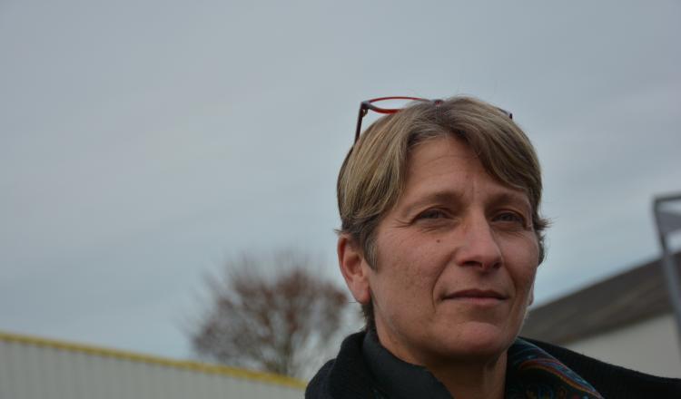 Christelle Dauphin est la seule femme du bureau de Solidarité Paysans 53