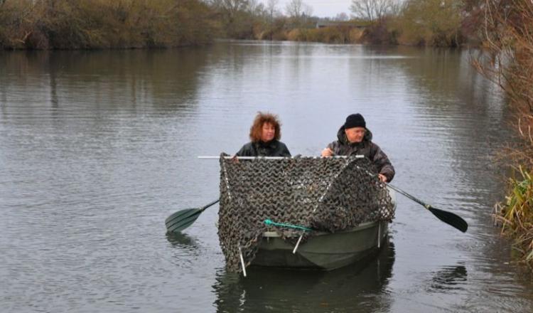 Sylvie et Michel Rak chassent sur le Loir