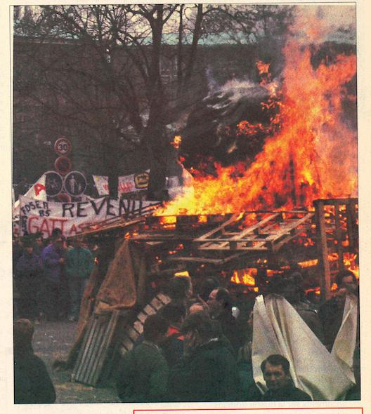La manifestation anti-Gatt a rassemblé 70000 paysans à Strasbourg. Deux cents Mayennais avaient fait le déplacement en car.