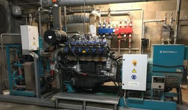 Le moteur à gaz permet d'atteindre une puissance de 250 Kw s'il est bien alimenté.