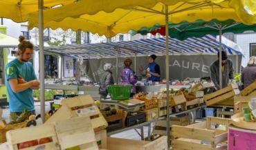 Un drive de produits locaux fonctionnera à partir de la semaine prochaine sur l'île de Nantes, au Solilab, à l'initiative du Kiosque paysan. (photo: Nantes Métropole).