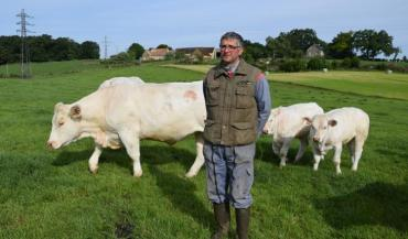Frédéric Richard est éleveur en Sarthe, il fournit la filière BFM entre autres.