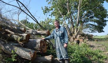 """Eric Guilvard  va valoriser ses propres ressources en bois. """"Dans notre zone, la demande (en paille) est forte avec les volailles et logiquement le prix va monter"""", explique-t-il."""
