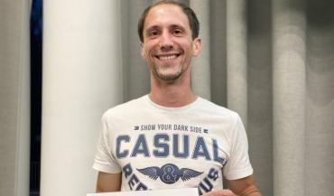 """David Chanclou, le lauréat: """"Le moteur de mon installation, c'est la passion."""""""