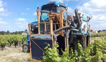 La pulvérisation confinée apporte une meilleure couverture de la cible et des économies de produits phytosanitaires. (photo chambre d'agriculture des Pays de la Loire)