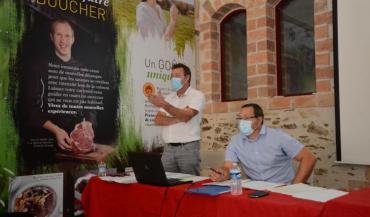 Jean-Stéphane Blanchard (Agro Qualité) et David Cadet (AOP Maine-Anjou) ambitionnent de relancer les ventes de viande AOP.