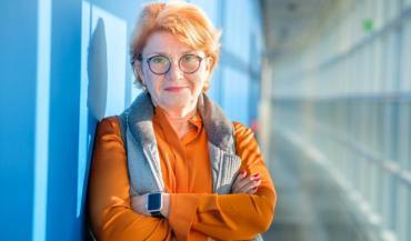 Angélique Delahaye, maraîchère membre de Légumes de France, et présidente de l'association du don agricole Solaal..