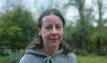 Virginie Beaupérin, 42 ans, éleveuse de porcs bio en plein air au Plessis-Macé (Longuenée-en-Anjou, Maine-et-Loire).