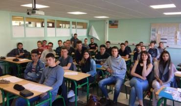La calsse de Bac Pro CGEA du lycée agricole de Laval.