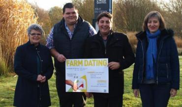 La chambre d'Agricultutre, avec le soutien des communautés de communes de la région de Blain et d'Erdre et Gesvres et des correspondants installation - transmission du secteur, prépare déjà le farm dating qui se déroulera en février prochain.