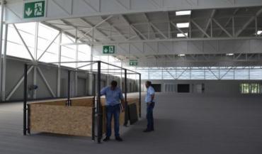Un prototype de parc à bovins a été présenté. Il en existera de différentes surfaces: 25m2, 12m2 et 6,5m2.