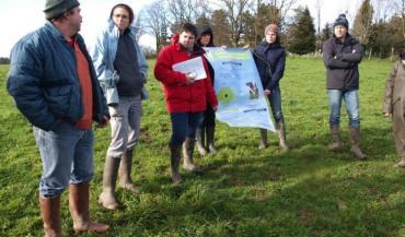 Hubert Poisbeau (au premier plan) fait partie du Collex (Collectif d'éleveurs expérimentés), un groupe coanimé par le Cival et le Gradel qui sensibilise les éleveurs à la culture de l'herbe.