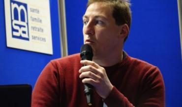 Loïc Deveyer, conseiller agro-machinisme à la chambre d'agriculture de l'Orne lors du colloque sur les nouvelles technologies organisé mardi par la MSA, à Sillé-le-Guillaume.