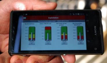 Application smartphone liée à un robot de traite. Les objets connectés vont-ils bouleverser l'agriculture?
