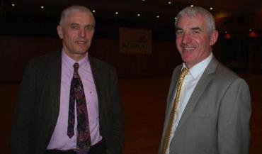 Jean-Luc Chéreau et Jean-Luc Fourmond, président et directeur de l'OP Porc.