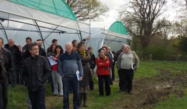 Les participants à l'assemblée générale ont visité l'espace-test abrité par le lycée agricole Jules Rieffel.
