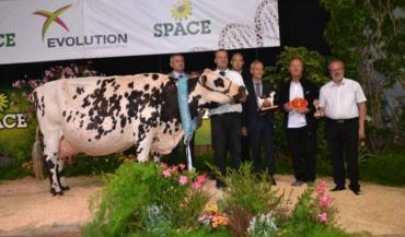 Blanchette, à Marcel Godmer, a été désignée grande championne du Space.