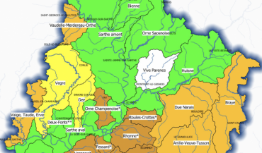 Situation au 27 juillet des zones d'alerte par rapport aux seuils de l'arrêté-cadre sécheresse du 30 juin 2020.